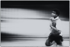 Day 185 (Tres Seis Cinco) Tags: 365 365photoproject 365project aphotoaday day185 blackandwhite male runner running blur blurred sport fitness outdoor