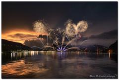 "Ponte Tresa, Fireworks On July 8, 2017 (""Deca"") Tags: varese lavenapontetresa lago lake lagodilugano fuochiartificiali fireworks estate summer luglio july luci lights"