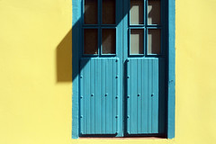 True Colors (emerge13) Tags: centrohabanacuba cuba havana lahavane doors windows simplistic habana minimalarchitecturaldetails architecturalheritage architecture textures facades yellowblue yellow blue minimalistmondays