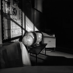 Classroom, Portland (austin granger) Tags: classroom portland oregon school class globe earth continents sunlight teacher education childhood student learning maps sunset film square gf670 planets