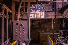 Watch Your Step (Todd Evans) Tags: canon t5i slossfurnaces birmingham alabama al rust rusty industrial abandoned decay
