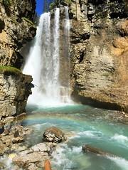 Johnston Canyon - iPhone (Jim Nix / Nomadic Pursuits) Tags: rainbow canada alberta banff johnstoncanyon canyon trail hike waterfall travel snapseed iphone
