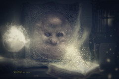 magic frame (olgavareli) Tags: olga vareli magic troll witch light book frame miniature manipulation crystal ball