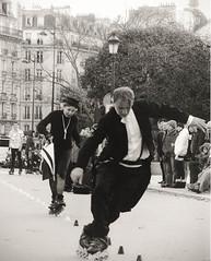 Catch me if you can (C G G) Tags: explore explored inexplore paris run fun black white old france