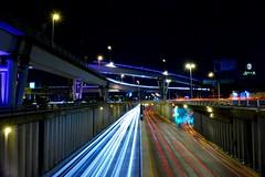Tránsito de Noche (josenieblas) Tags: lightpainting luces lights trafico mexicali nite