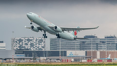 Air Canada A330-300 rocketing out of Amsterdam for Toronto (Nicky Boogaard) Tags: boeing airbus aviation dmaviation aircanada klmcityhopper aa americanairlines kalittaair deltaairlines 787 dreamliner easyjet a319 747 freigther 747400 777200 77w 7878 7879 embrear e175 jetairways united keniaairways
