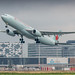 Air Canada A330-300 rocketing out of Amsterdam for Toronto