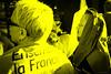 25-033-20170504_FUJ6973 (patrickbatard) Tags: politique présidentielle élection 2017 meeting peuple expression doute incrédule incrédulité ennui jaune noiretblanc