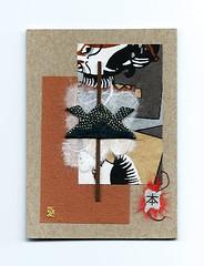 aceo-origami-samurai-helmet-01 (Julie Savard) Tags: origami aceo aceos collage artistcards handmadecards collectiblecards collageart small art smallart orijuju juliesavard ebay etsy tweeter orijujushop