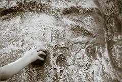 Little Climber (mikeyp2000) Tags: climbing climber monochrome climb wall blackandwhite hand bw