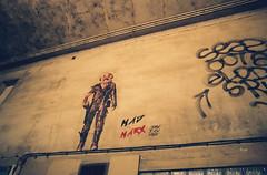Against bourgeoisie (GrailK) Tags: contax139 film argentique marx paris france bynight street art collage analog colours wall mur blur flou 28mm