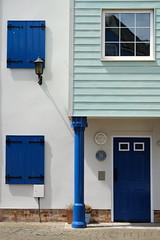 Blue (The Green Album) Tags: portishead marina house fishing village shades blue paint bright cheerful door window