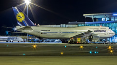 "Lufthansa Boeing B747-8 D-ABYG ""Baden-Württemberg "" Bangalore (BLR/VOBL) (Aiel) Tags: lufthansa boeing b747 b7478 dabyg bangalore bengaluru canon60d tamron70300vc night noflash sparkle twinkle badenwürttemberg"