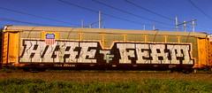 hire - ferm (timetomakethepasta) Tags: hire ferm tf freight train graffiti art autorack up union pacific benching selkirk new york photography