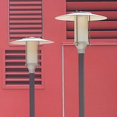 lighting the way (msdonnalee) Tags: lamp lamppost vent geometry geometrie explore outdoorlighting pink rosa rosepink