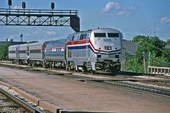 Statehouse in Joliet (craigsanders429) Tags: amtrak amtraktrains amtrakstations amtrakinillinois p42dc amtrakp42locomotives amtrakp42dc amtrakp42dcno50 signals signalbridges jolietillinois chicagorailroads tracks railroadtracks amtraksstatehouse amtrakhorizonequipment amtrakhorizoncars passengertrains passengercars amtraklocomotives amtrakmotivepower amfleet amfleetequipment