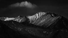 Pangong Range -1 (Ravikumar Jambunathan) Tags: himalayas india jambunathan ladakh leh majestic mountain nature pangongrange ravikumar ridges snow snowfall sunset travel