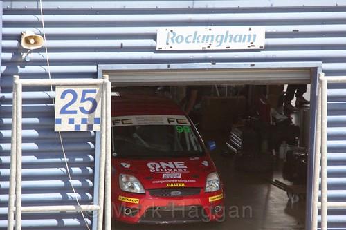 Morgan Jones in the Fiesta championship Class C at Rockingham, June 2017