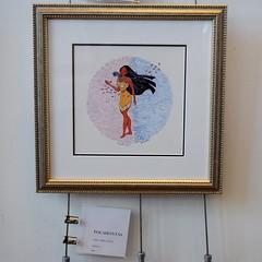 Disneyland Visit 2017-6-25 - Downtown Disney - WonderGround Gallery - Pocahontas by Nidhi Chanani (drj1828) Tags: disneyland visit 2017 downtowndisney wondergroundgallery artwork art