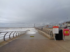 What? No Access!  - Blackpool lower promenade walkway awash with the sea. (j.a.sanderson) Tags: what no access blackpool lower promenade walkway awash with sea seaside waves seawater stormyseas
