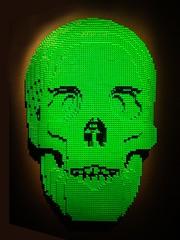 Green Skull from Skulls by Lego artist Nathan Sawaya (mharrsch) Tags: skull green lego sculpture art nathansawaya artofthebrick exhibit omsi oregonmuseumscienceandindustry oregon mharrsch