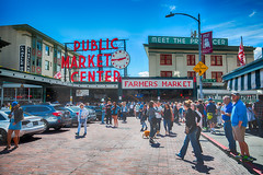 Pike Place Market (Photos By RM) Tags: seattle pikeplace pikeplacemarket fish market hdr publicmarketcenter travel tourism tourists washington