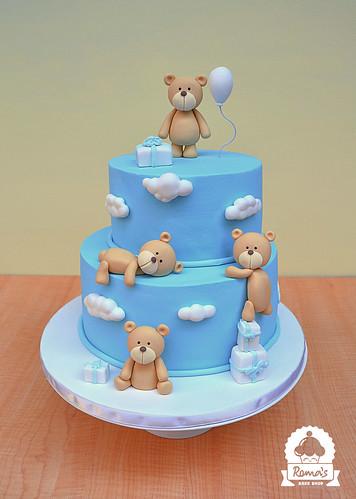 Teddy bear theme cake