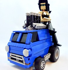 Zinger Van (Lino M) Tags: zinger van 70s early 1970s lego lug nuts vans pickups build challenge blue toy zingers lino martins car