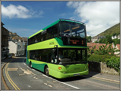 1110, Trinity Road, Ventnor (Jason 87030) Tags: steep hill winding road trinity ventnor iow island isleofwight hw58asv 1110 scania omnicity southernvectis green bus doubledecker publictransport sunny sky scene view tight shot sony alpha a6000 ilce nex lens look cool nice light bright wheels 3 ryde