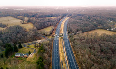 Highway (Darren LoPrinzi) Tags: dji drone p4p aerial road highway i295 nj newjersey landscape fromabove phantom4pro phantom4proplus trees roads rurul countryside