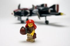 Lt. C. Williams (Sylon-tw) Tags: sylontw sylon plane aircraft airplane dieselpunk dieselpulp moc lego skyfi wing wings