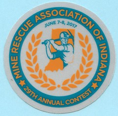 Indiana State Mine Rescue Contest 2017 (Coalminer5) Tags: coalmining coalminer coalmemorabilia coalcollectibles coal mining miningmemorabilia miningcollectible miningartifacts decal drager draeger dragerman draegerman sticker minerescue minerescuecontest minerescuecompetition smokeeaters smokeeater sewonpatch minerescueassociationofindiana indianaminerescueassociation indianacoal