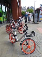 Mobike (stillunusual) Tags: manchester mcr city england uk mobike bicycle bike cycle cycling bicyclesharingsystem manchesterstreetphotography streetphotography street cityscape urban urbanscenery urbanlandscape landscape streetscene streetlife citylife peopleinthestreet urbanpeople realpeople peoplepictures 2017