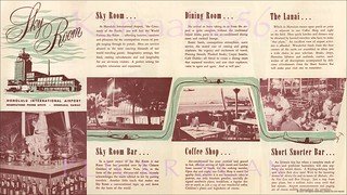 Sky Room Honolulu Airport c1950