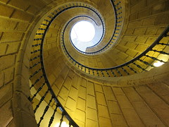 Espiral (borneirana) Tags: stairs escalera espiral spiral circle arquitectura architecture building monumento monument yellow travel viajes viajar galicia santiagodecompostela museo museum