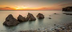 Quattro Sorelle (Pureo) Tags: trowrocks seascape sea sky sunrise silky rocks northeast northsea northeastengland longexposure le leefilters landscape glow southshields canon canon6d 1740mm