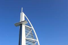 Tiptop Burj Al Arab (frankiefish2014) Tags: tiptop space shape canon architecture buildings blueandwhite dubai burjalarab