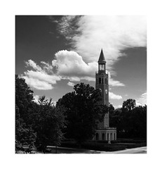 Morehead-Patterson Bell Tower, UNC (Joe Franklin Photography) Tags: almostanything moreheadpatterson belltower unc carolina chapelhill blackandwhite bw joefranklin wwwjoefranklinphotographycom northcarolina university uncch tar heel heels
