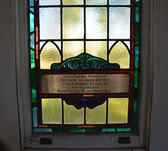 Stained glass window to the memory of Francis Seaman Riches in the former Wolseley Methodist Church, Old Tailem Town Village, Tailem Bend, South Australia (contemplari1940) Tags: stained glass window memorial francisseamanriches wolseley methodist church tailem town village