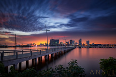 Let Dusk Settle (draken413o) Tags: singapore architecture cityscapes skyline skyscrapers urban places scenes asia travel destinations johore bahru malaysia woodlands waterfront epic sunset glow haida neutral density filters waterscapes jetty evening canon 5dmk4 17mm tse tilt shift long exposures