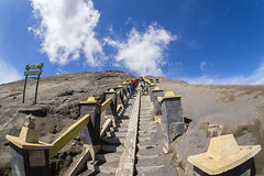 bromo mount step down (sydeen) Tags: bromo indonesia volcano java people mountain park crater mt travel mount landscape asia active smoke adventure nature east tengger up sky tourism cloud destination climbing view place top attraction hiking tour climb ladder volcanic step penanjakan