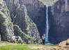 Maletsunyane Falls (Hans van der Boom) Tags: holiday vacation travel sawadee zuidafrika southafrica lesotho maseru semonkong maletsunyanefalls waterfall mountains smonkong lso