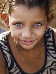 Green Eyes (Harshal Orawala) Tags: portrait girl eyes eye green face cute beautiful small india indian surat gujarat 121clicks natgeo