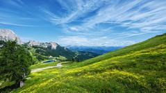 Oben [explored] (blatnik_michael) Tags: nassfeld carinthia austria mountain clouds wiese green tree landscape fuji xe2 xf1024 panorama