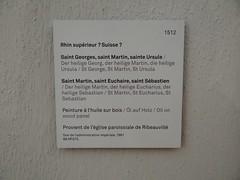 1512 - 'St. George, St. Martin and St. Ursula', maybe Upper Rhine or Switzerland, Église Saint-Grégoire, Ribeauvillé, Musée Unterlinden, Colmar, dép. Haut-Rhin, France (RO EL (Roel Renmans)) Tags: 1512 st saint sankt georges georg george jorge san jordi giorgio joris ursule ursula martin martinus painting oberrhein upper rhine suisse switzerland schweiz rhin superieur colmar musée museum unterlinden ribeauvillé church kirche église iglesia chiesa grégoire gregor armure armor armour plattenrüstung harnisch harnas armadura saints heilige renaissance