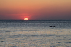Sunset over gulf of Naples (Luigi Gaudino) Tags: sunset over gulf naples fishing fishermen boat sea sun afternoon fatigue relax italy