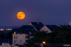 Urban Moonrise (Astro☆GuiGeek) Tags: rouge moon moonrise fullmoon fullmoonrise astronomy astrophotography sky skyatnight night nightphotography nightscape astroguigeek astronomie astrophotographie astro astro2017 astrophoto ciel cieldenuit lune pleinelune leverdelune leverdepleinelune canoneos600d canonphotography canon calvados caen normandy normandie eos600d 600d t3i tamron70300mm hdr hdrphotography