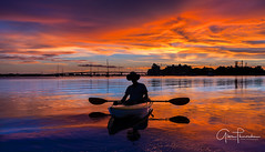 Florida Life: Sunset Paddle (Thūncher Photography) Tags: sony a7r2 sonya7r2 ilce7rm2 zeissfe1635mmf4zaoss fx fullframe scenic landscape waterscape nature outdoors sky clouds colors reflections sunset shadows silhouette kayak paddling sarasota sarasotabay florida southwestflorida