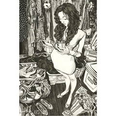 Pen and ink (Dorian Vallejo) Tags: art fine drawing figure mixed media drawings oil painting dorian vallejo
