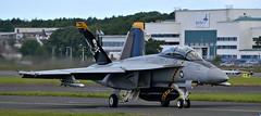 F/A-18F at Prestwick (Allan Durward) Tags: f18 fighter fa18 fa18f twoseater usnavy pik egpk prestwick hornet superhornet fa18fsuperhornet navy prestwickairport glasgow glasgowprestwick